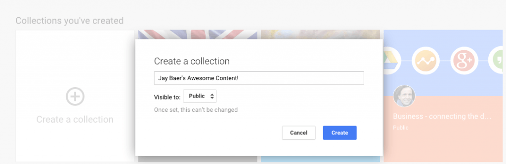 Google plus collections 2