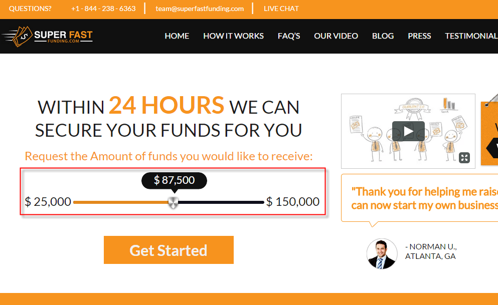 Super Fast Funding redesign