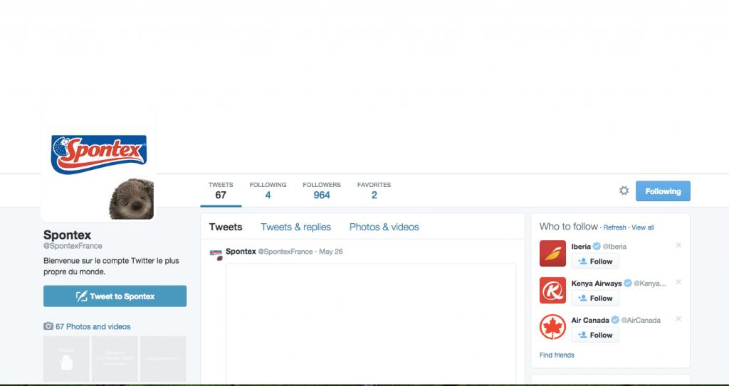 Spontex Twitter feed