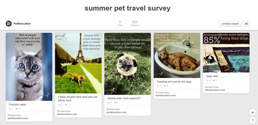 Pet Relocation Pinterest board