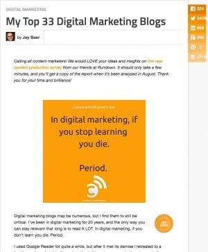my 33 top digital marketing blogs