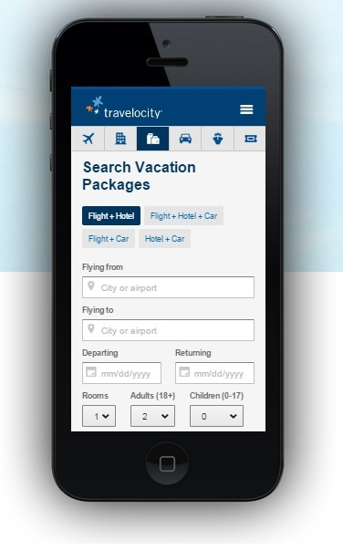 travelocity mobile responsive