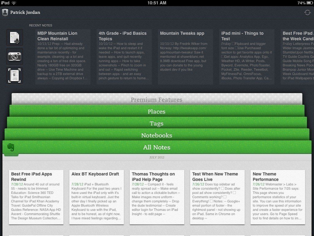 Evernote content marketing tool