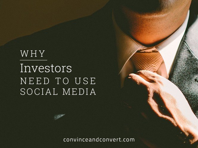 Why Investors Need to Use Social Media