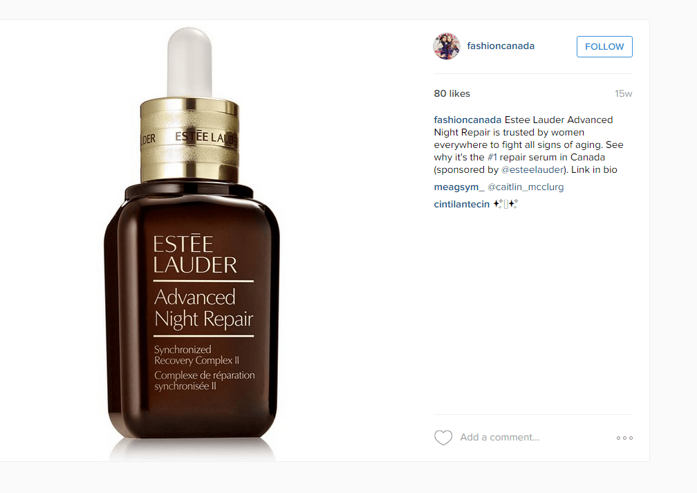 sponsored post - estee lauder