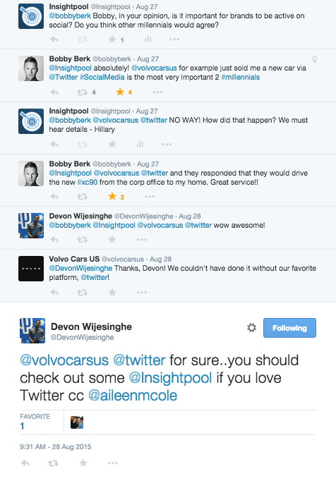 Insightpool Twitter conversation