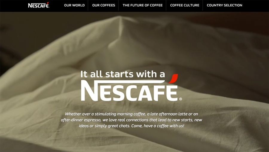 Nescafe Tumblr website