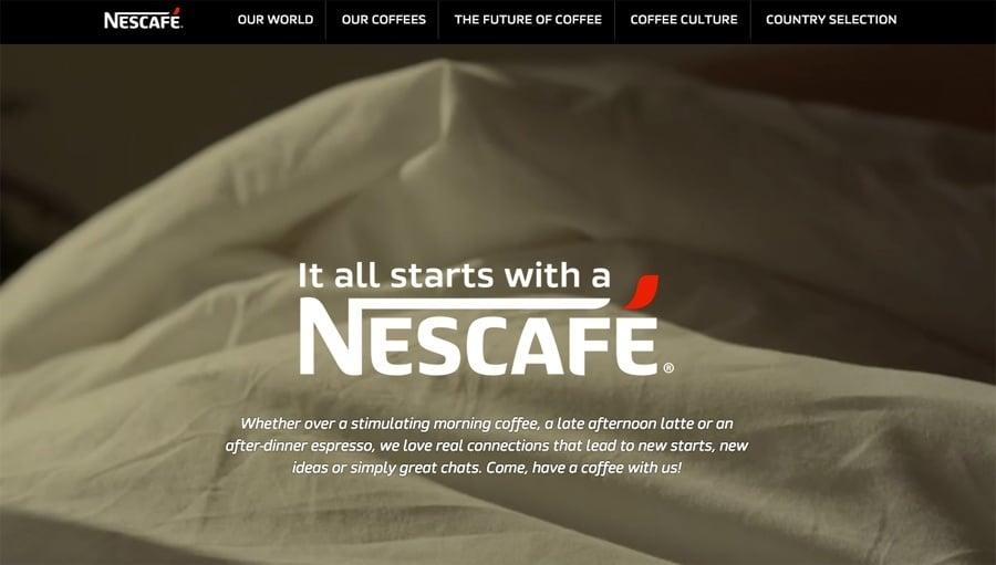 Nescafe Tumblr website