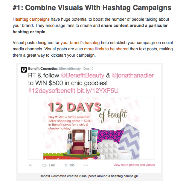 visual content example 3 social media examiner