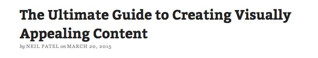 visual content headline