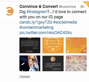 Convince and Convert twitter