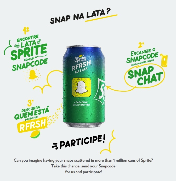 Sprite Brazil Snapchat campaign