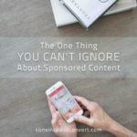 The One Thing You Can't Ignore About Sponsored Content