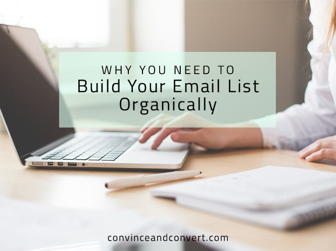 Why You Need to Build Your Email List Organically