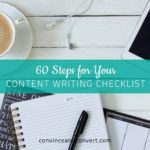 60 Steps for Your Content Writing Checklist