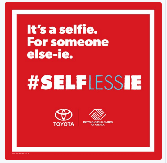 Toyota selflessie campaign