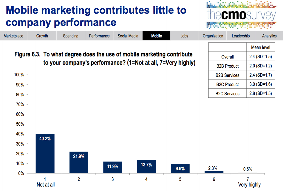 CMO Survey Mobile Marketing