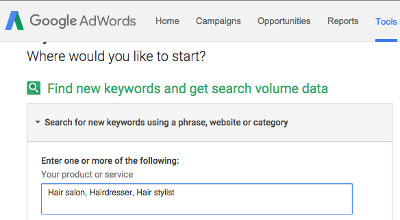 Google AdWords for local search