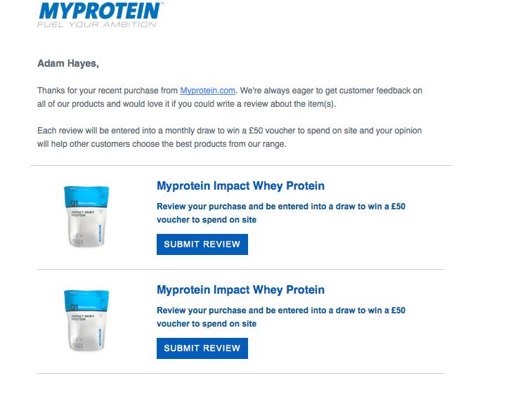 Myprotein reviews