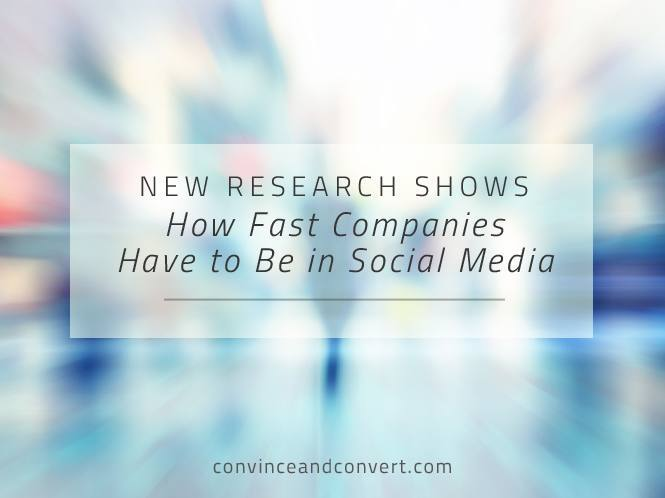 New Research Shows How Fast Companies Have to Be in Social Media