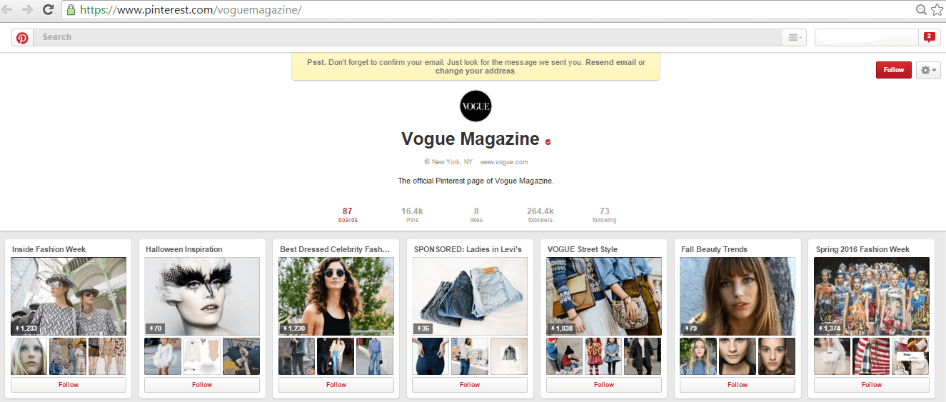 Vogue on Pinterest