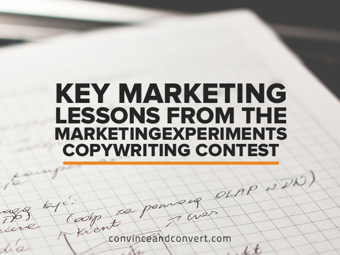 Key Marketing Lessons from the MarketingExperiments Copywriting Contest