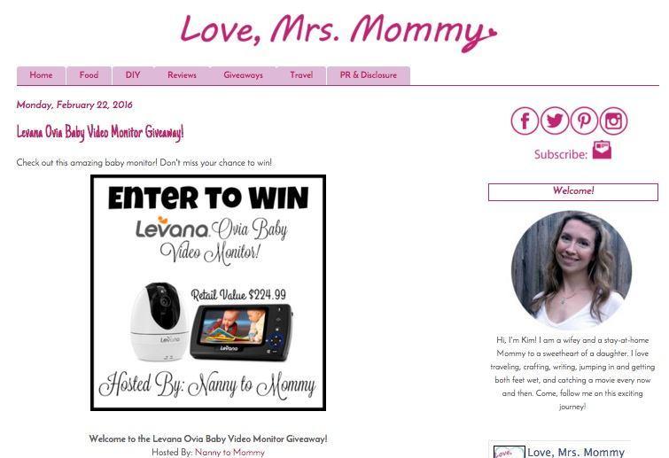 Love Mrs Mommy blog promotion