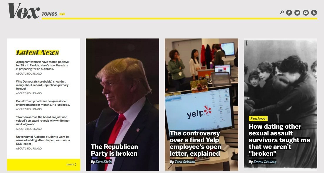 Vox website design