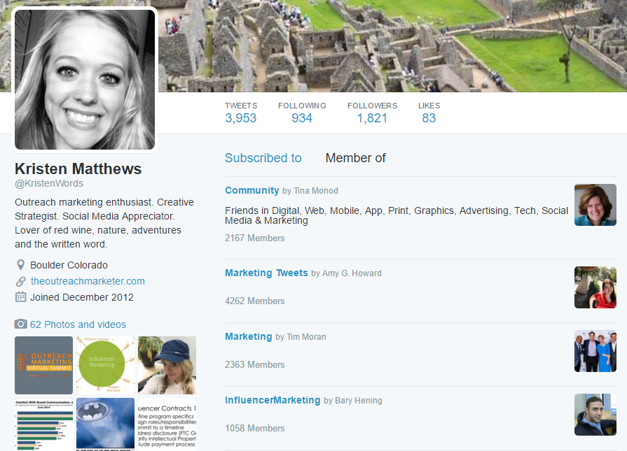 Twitter Lists for influence marketing