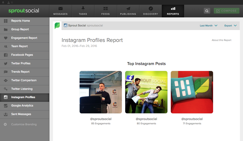 social engagement instagram sprout social