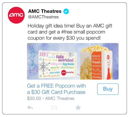 AMC Twitter ecommerce campaign