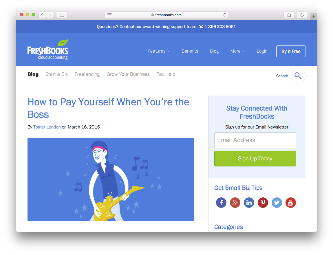 Freshbooks visual brand