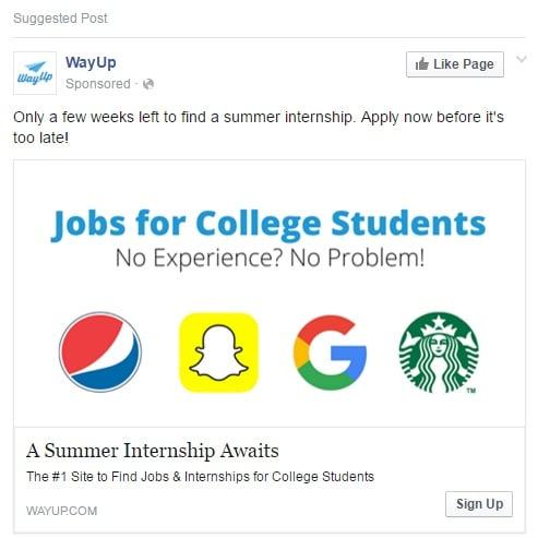 PPC internship ad