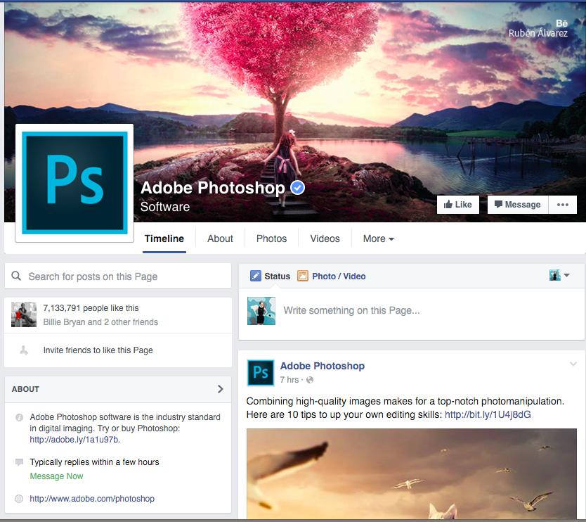 Photoshop Facebook page
