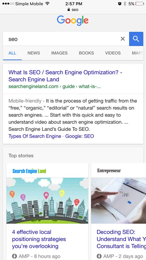 AMP pages rank in search for SEO