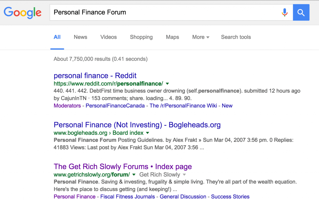 Personal Finance Forums