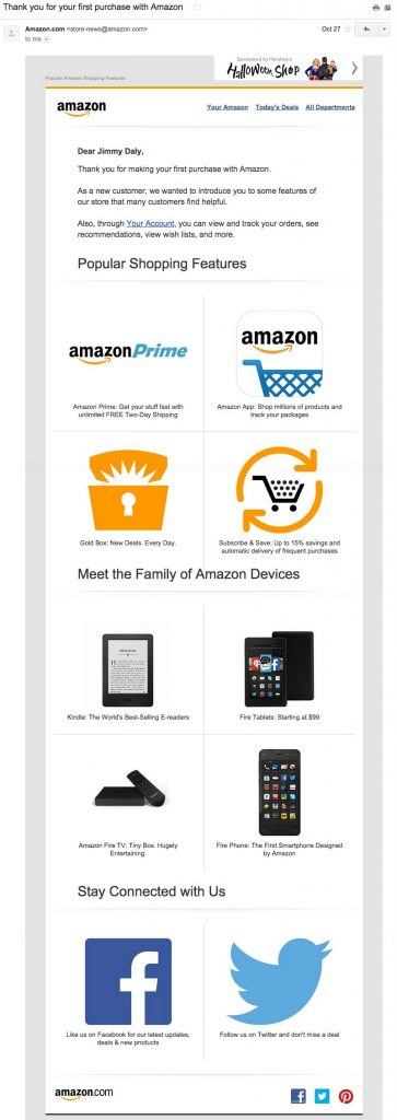 amazon email personaliztion