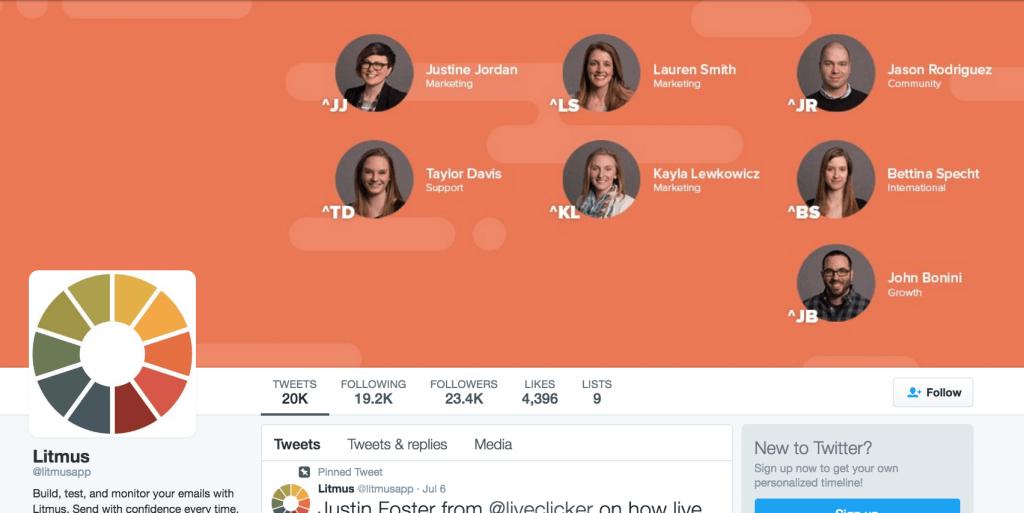 Litmus twitter banner
