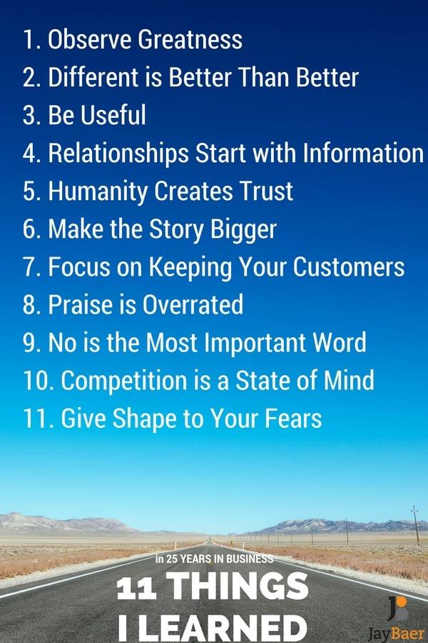 11 Things I've Learned