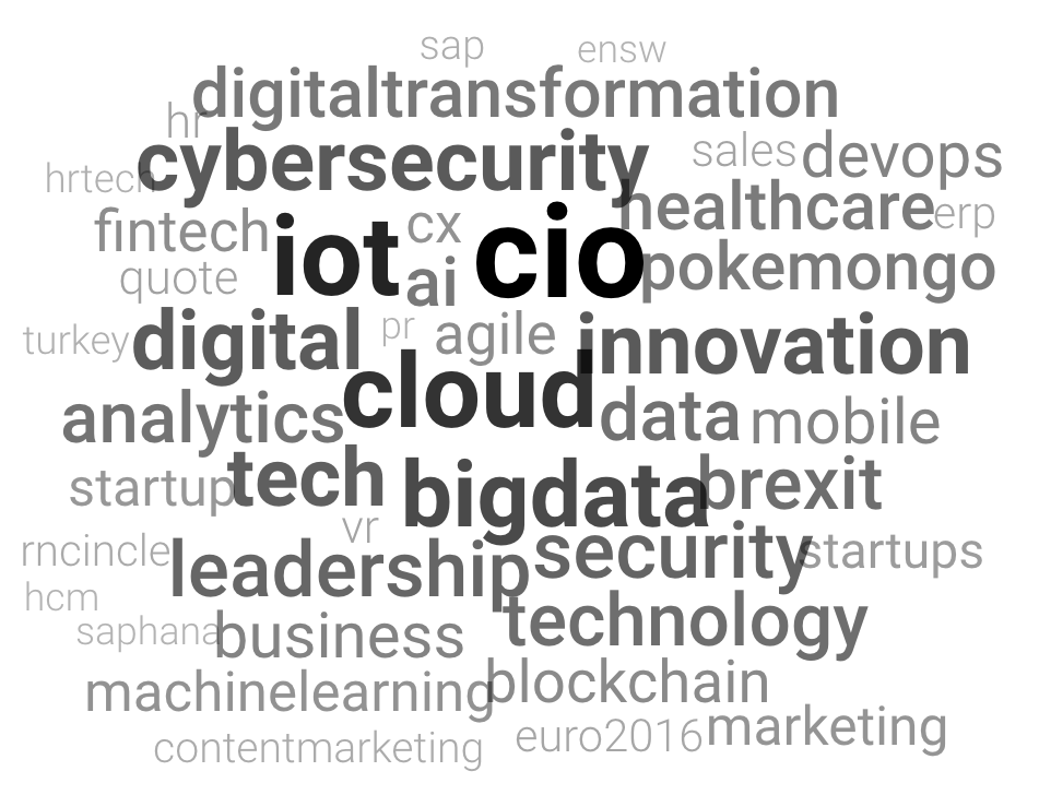 Top Hashtags Used by CIOs