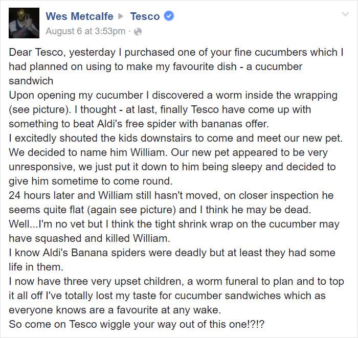 Tesco customer response