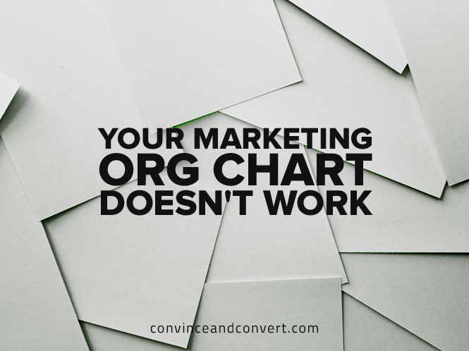 Your Marketing Org Chart Doesn't Work