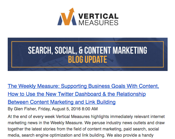 vertical measures newsletter