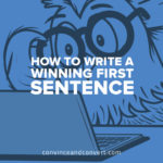 how-to-write-a-winning-first-sentence