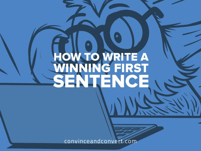 how-to-write-a-winning-first-sentence