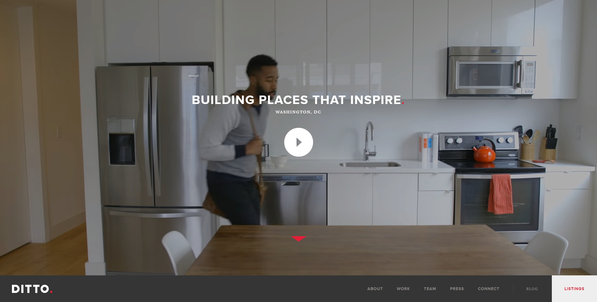 Ditto Residential landing page video increases sales