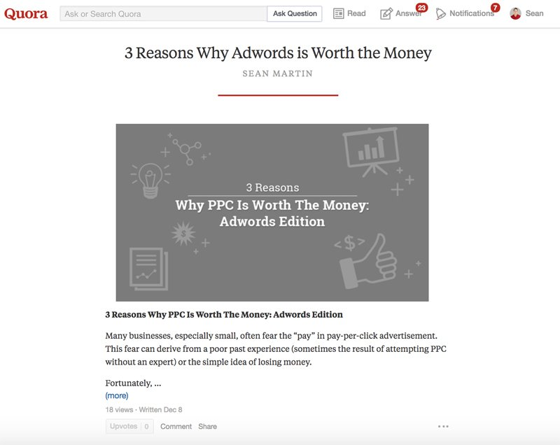 Quora repost strategy