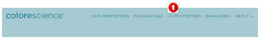 Colorescience nav bar