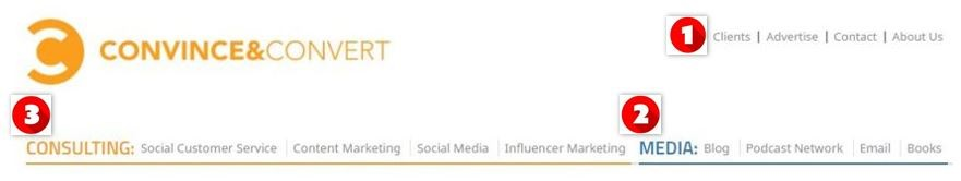 Convince and Convert nav bar