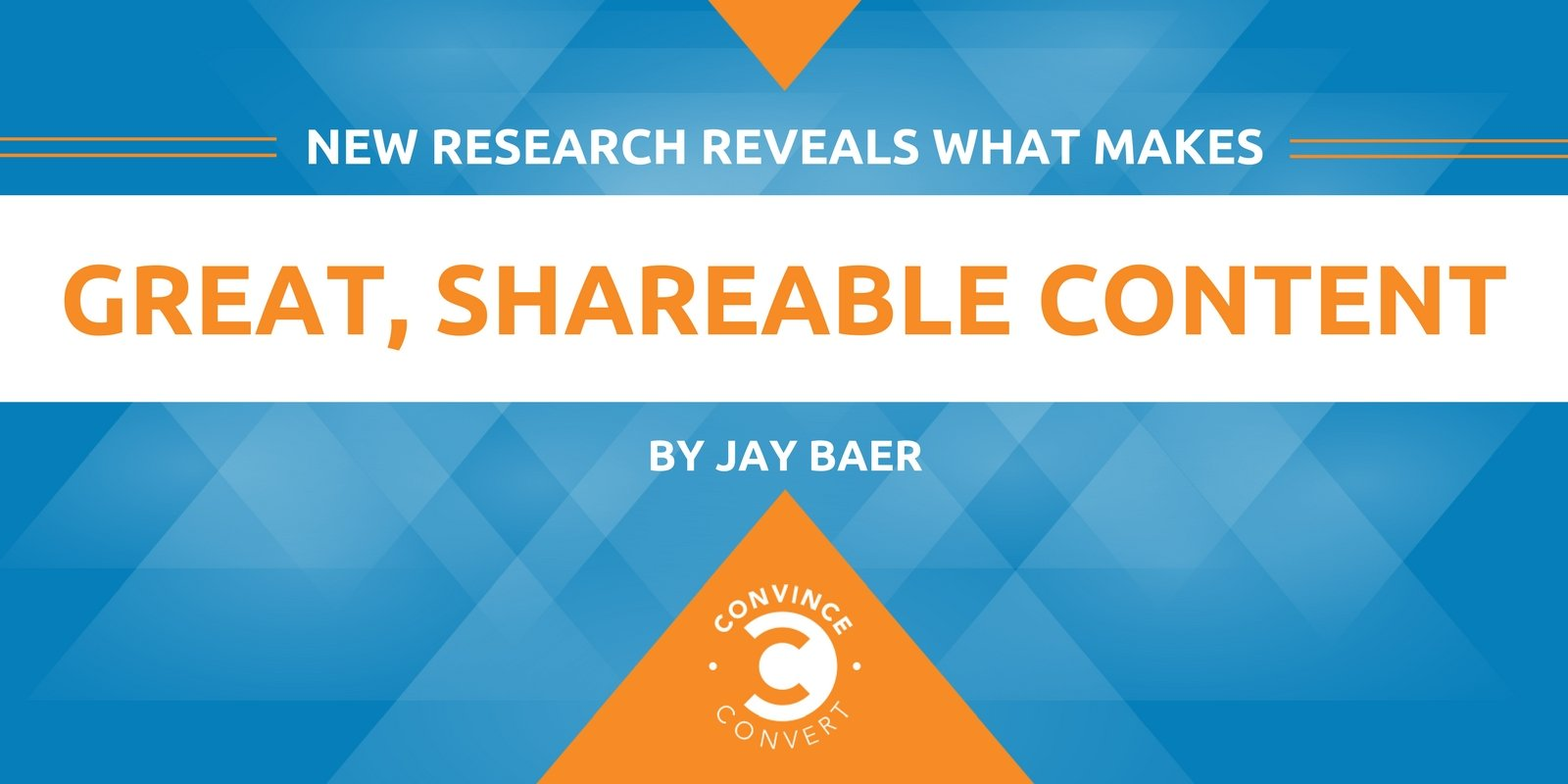 New Research Reveals What Makes Great, Shareable Content